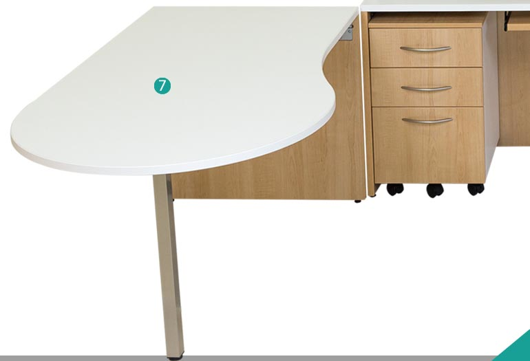 « P » Shaped Table - Model A -2139-0